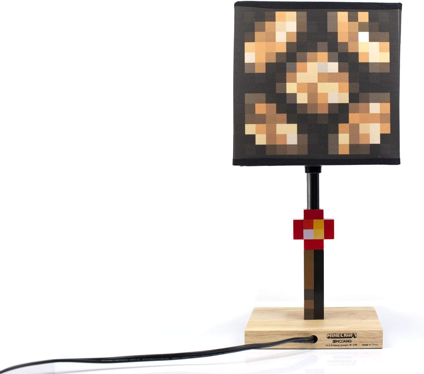 Minecraft Glowstone 10 Inch Corded Desk LED Night Light - Decorative, Fun,  Safe & Awesome Bedside Mood Lamp Toy for Baby, Boys, Teen, Adults & Gamers