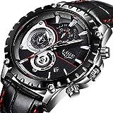 Mens Watches Top Brand Luxury LIGE Waterproof Analog Quartz Watch Men Luminous Sport Wristwatch Man Black Leather Business Clock