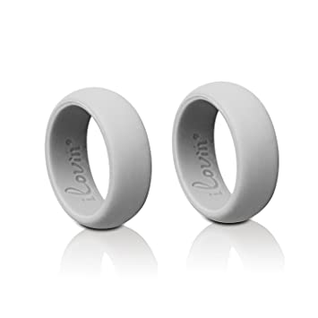 iNeibo Anillo silicona boda, anillo medicinal, anillo silicona, para hombres y mujeres,