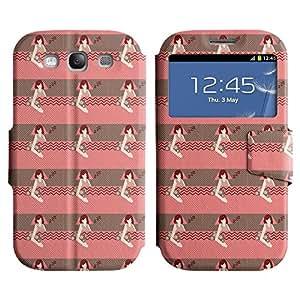 LEOCASE linda chica Funda Carcasa Cuero Tapa Case Para Samsung Galaxy S3 I9300 No.1007249
