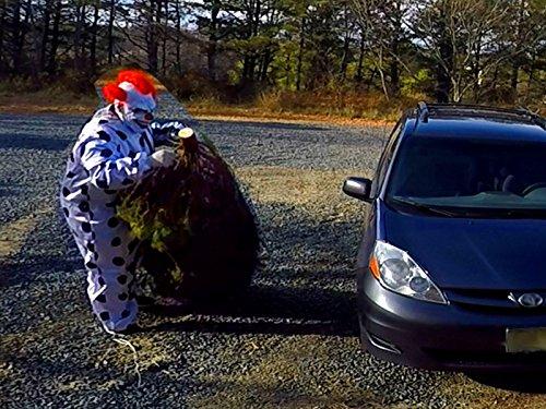 How the Clown Stole Christmas! Scary Killer Clown Destroys Christmas Tree -