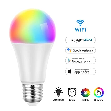 WeCraft - Bombilla LED multicolor, regulable, 850 lúmenes, 8 W, luz diurna