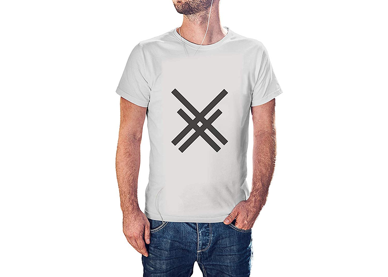 J818 Modern Cool Tees for Men Kilsd Thick Lines Forms T-Shirt