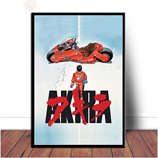 Amazon Com Poster And Prints Akira Red Fighting Anime Comic Movie Canvas Art Oil Painting Wall Pictures For Living Room Home Decor 50x70cm Frameless Posters Prints