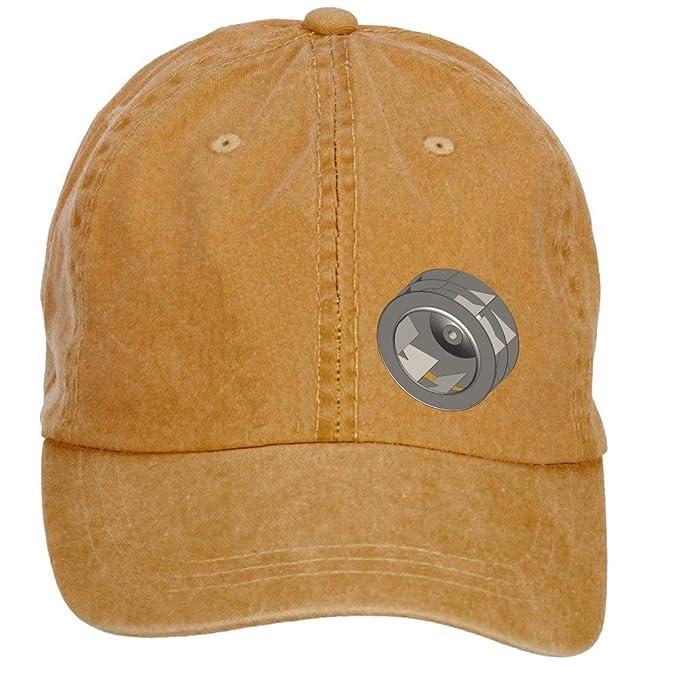 dorkstore Unisex hacia atrás inclinado gorra de béisbol ventilador ...
