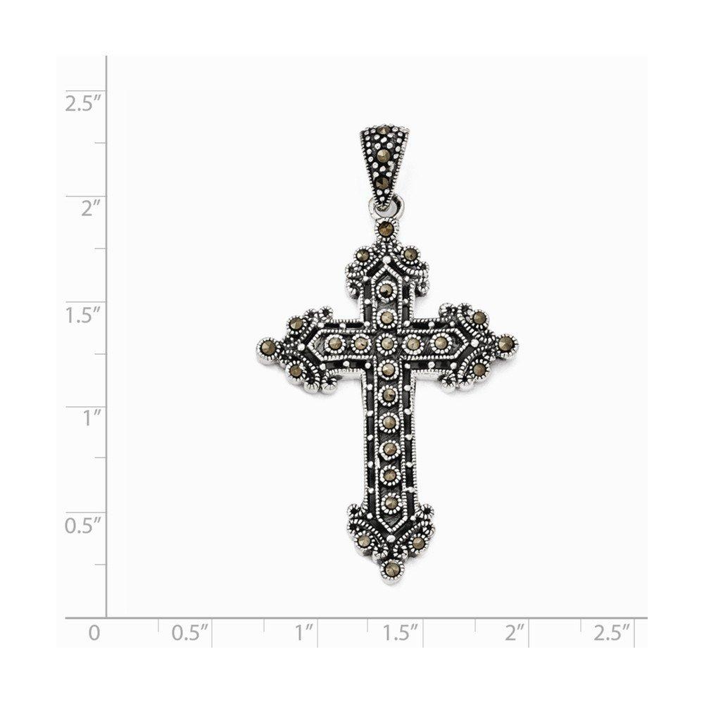 Sterling Silver Marcasite Cross Pendant