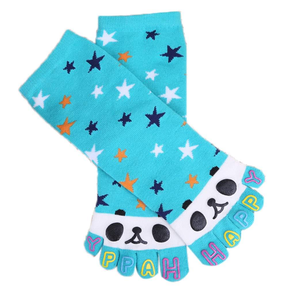 1 Paio Cinque Dita Calzini di Cotone Toe Socks Wicking Atletici No Show Medio Cut Caviglia Cinque Dita Articoli da Regalo Calzino per Ragazzi Ragazze