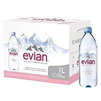 Deals on 12-Pack 1-Liter Bottles of Evian Natural Spring Water