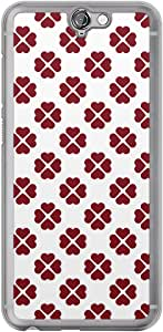 Loud Universe HTC One A9 Love Valentine Printing Files Valentine 67 Printed Transparent Edge Case - Red/White