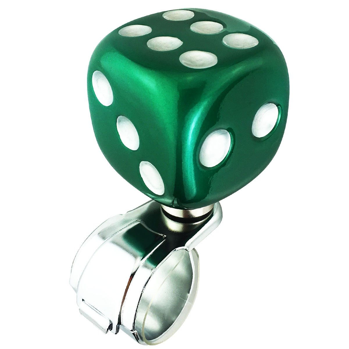 Abfer Steering Wheel Spinner Car Wheel Suicide Knob Dice Power Handle Ball Green Steering Spinner Knobs for Vehicles