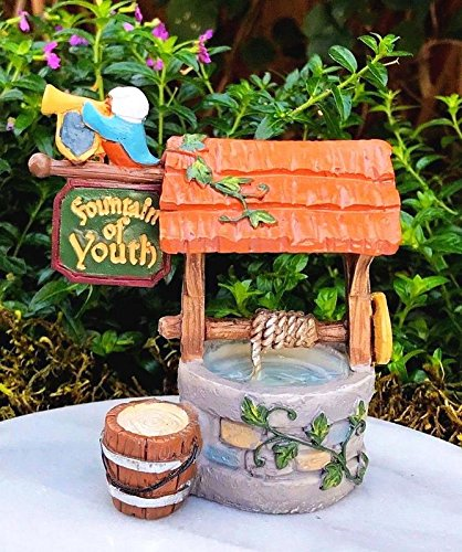 My Fairy Gardens Miniature - MEDIEVAL TIMES Fountain of Youth Well - Mini Dollhouse Supply Expressions