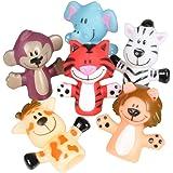 Rhode Island Novelty Zoo Animal Finger Puppets 1-Dozen
