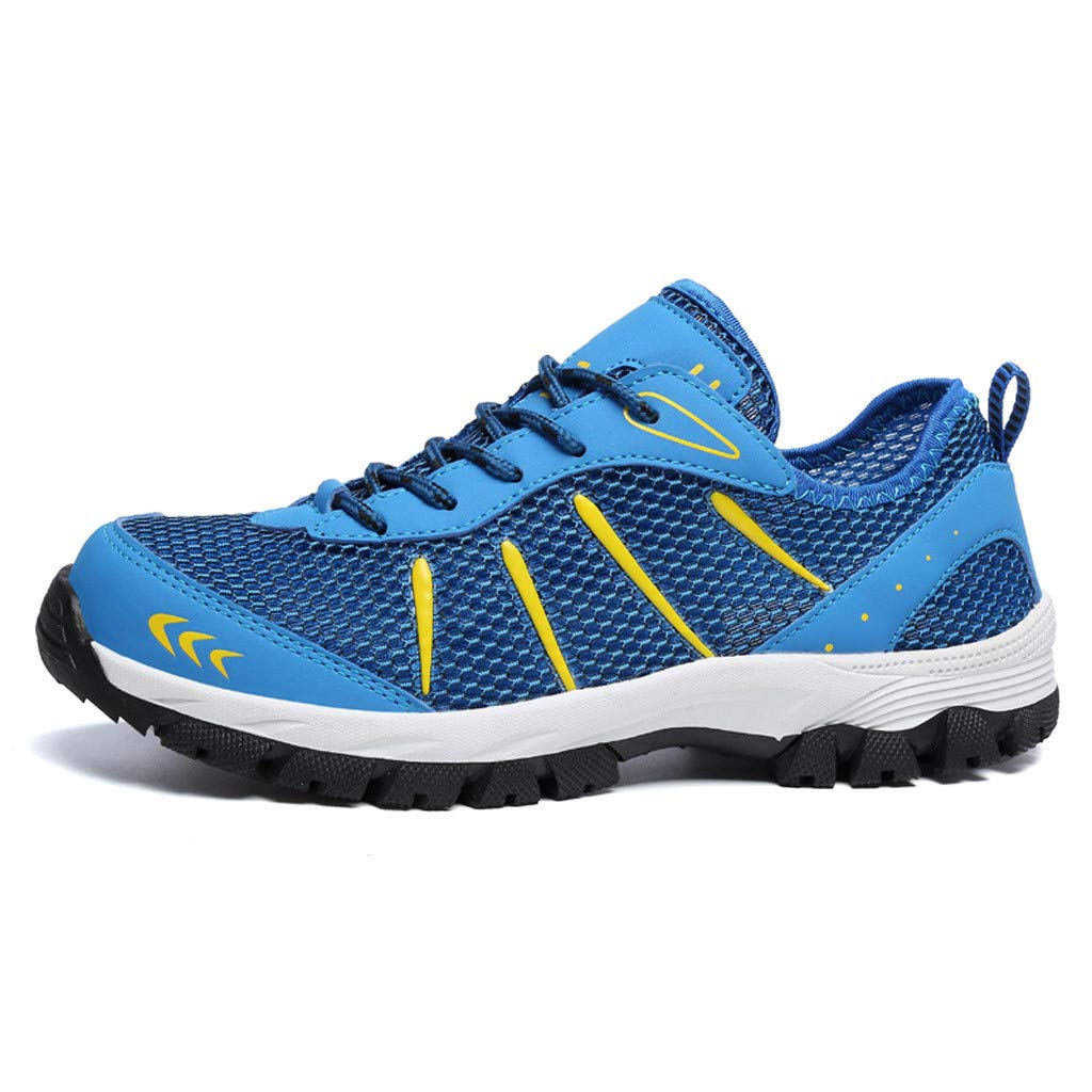 Mysky Fashion Men Popular Casual Mesh Breathable Outdoor Non-Slip Comfortable Walking Shoes Sports Hiking Shoes Blue by Mysky (Image #3)