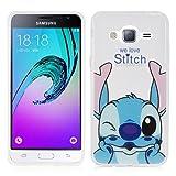 Samsung Galaxy J3 (2016) Étui HCN PHONE® Coque silicone TPU Transparente Ultra-Fine Dessin animé jolie pour Samsung Galaxy J3 (2016) - Stitch