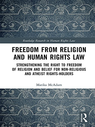 Freedom from Religion and Human Rights Law: Strengthening the Right to Freedom of Religion and Belief for Non-Religious and Atheist Rights-Holders (Routledge Research in Human Rights Law)