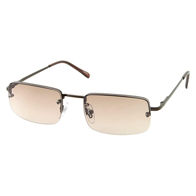 Amazon.com: Gafas de sol rectangulares pequeñas y delgadas ...