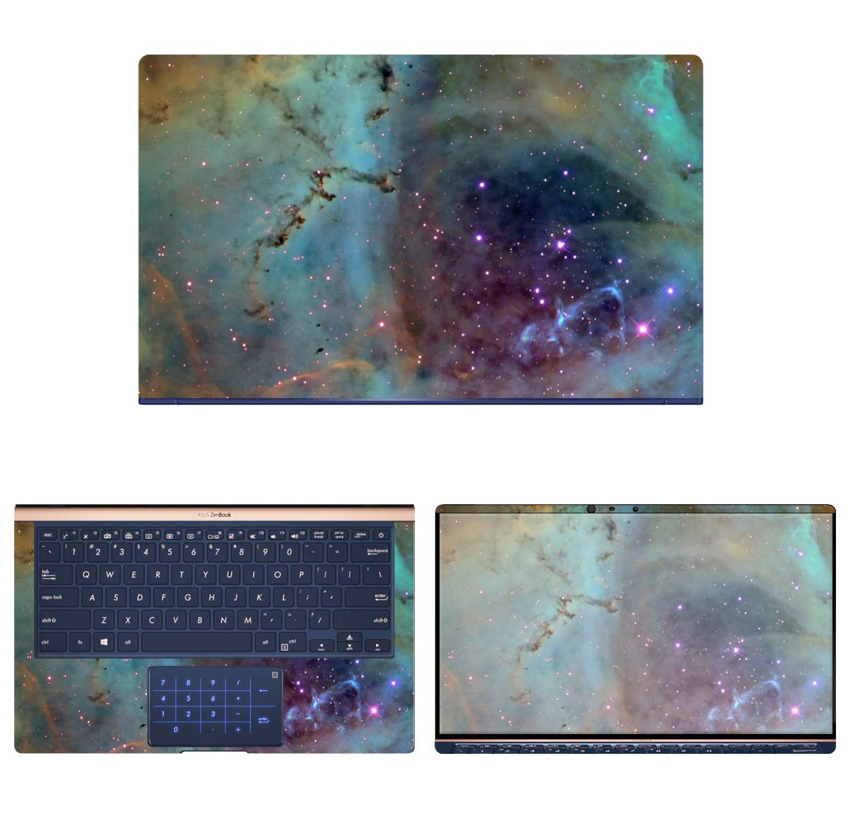decalrus - Protective Decal Galaxy Skin Sticker for Asus ZenBook 13 UX333FA (13.3'' Screen) case Cover wrap ASzenbk13_ux333-74