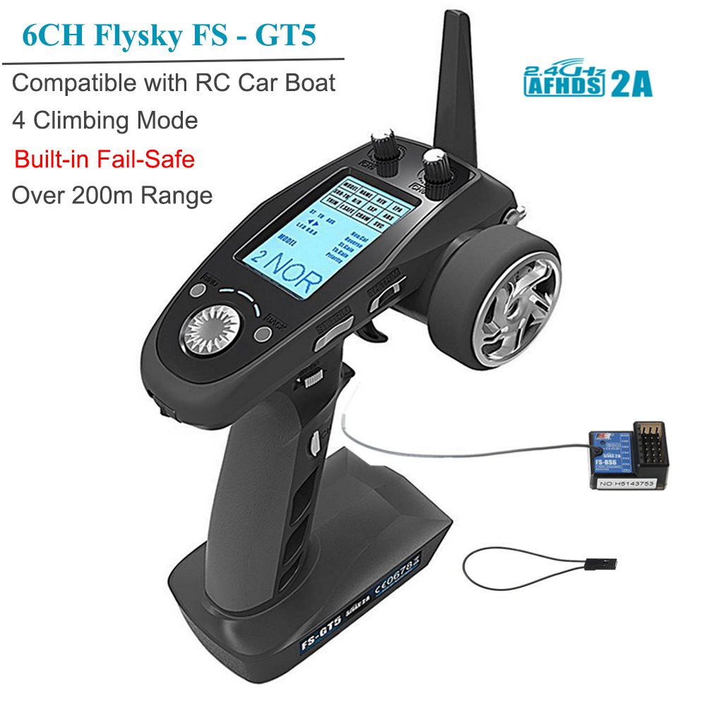 Flysky Fs Gt5 6ch Rc Transmitter With Bs6 Receiver Tips On Powering Servos Receivers Radios And Vehicles Lipos 24ghz Afhds 2a Protocol For Car Boat Ect Failsafe
