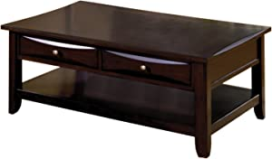 Furniture of America Hudson 2-Drawer Coffee Table, Espresso Finish