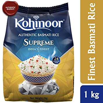 Kohinoor Supreme Authentic Basmati Rice, 1kg