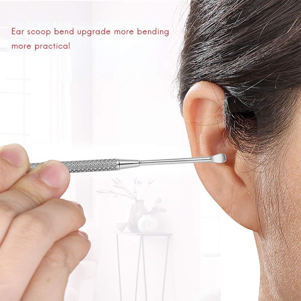 8Pcs Ear Pick Set Acero Inoxidable Earpick Ear Wax Curette Remover Ear Clean Tool con Estuche Kit de removedor de Cera Multifuncional para Adultos y ni/ños Limpieza de o/ídos