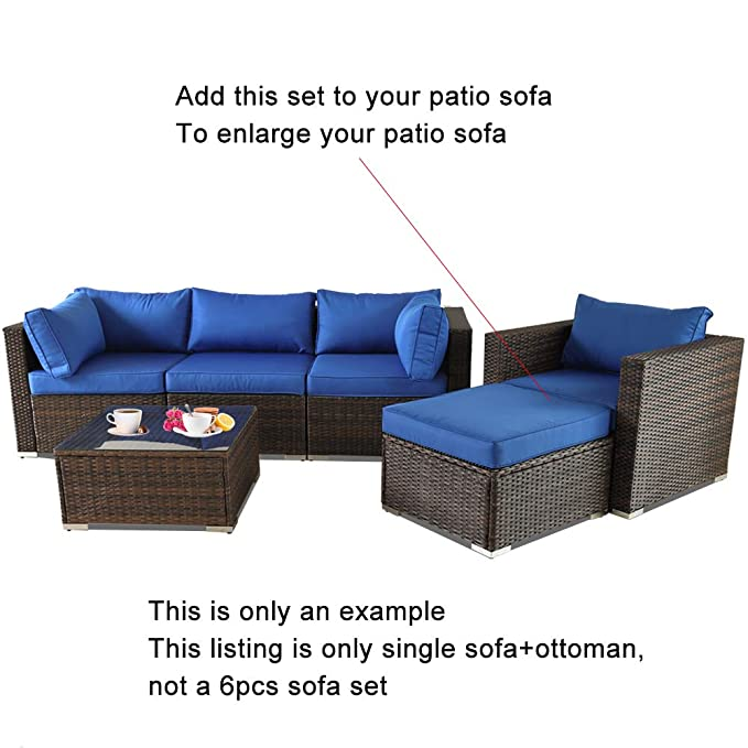 Amazon.com: Muebles de patio DIY Seccional Sofás ...