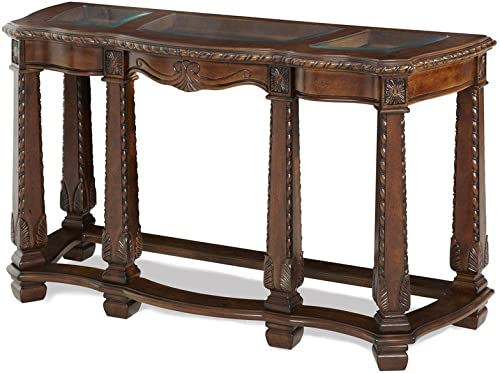 Michael Amini Windsor Court Sofa Table, Vintage Fruitwood