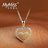 Generic Maimi_its_ silver jewelry _and_ gold heart necklace pendant pendants Korean fashion chain heart - shaped clavicle women girl heart