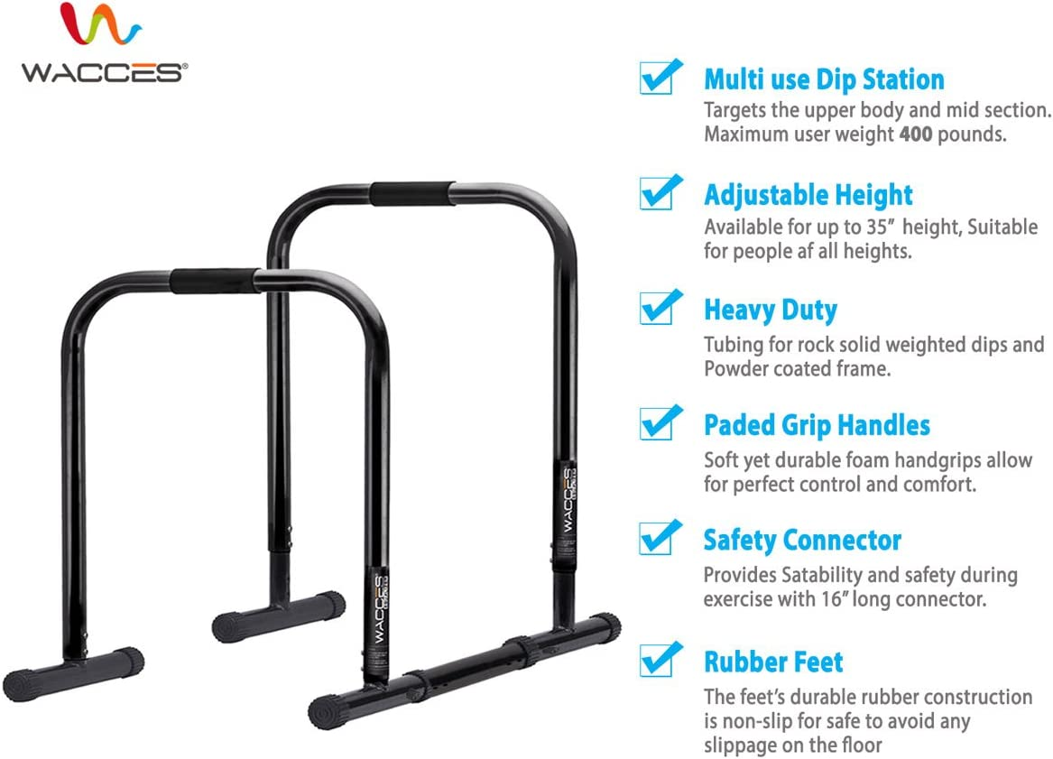 Wacces Heavy Duty Functional Fitness Station Stabilizer Dip Stand