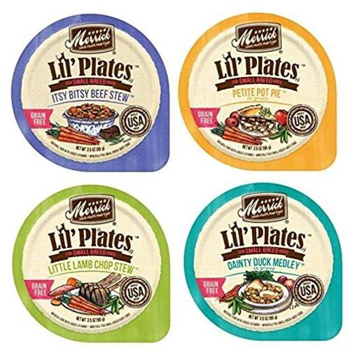 Merrick Lil' Plates Grain Free Small Breed Dog Food 4 Flavor