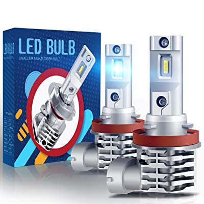 H11 LED Fog Light Bulb, CAR WORK BOX H8 H16 Fog Lamp 6000LM Extremely Bright 1860 Chips, Xenon White 6000K (Pack of 2): Automotive