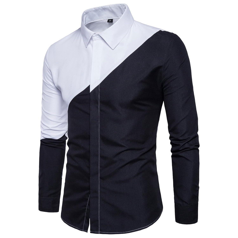 3960f6458 Black and White Segmentation Art Design, Dark and Light Style.Stylish Long  Sleeve Shirt,Novelty Shirt Men.Multipurpose casual shirt.