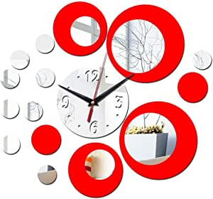 Acrylic Diy Wall Clock Stickers pedkit Mirror Wall Clock Decoration Used For Home School Office Decoration