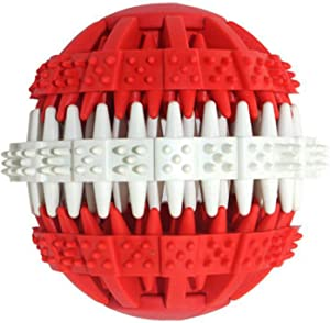 PETCARE Dog Toy Ball Puzzle IQ Treat Toys for Pet Teeth Cleaning Durable Natural Rubber Food Dispensing Dog Toy Chewing Balls for Small Medium Large Dogs Cats