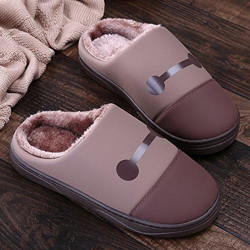 LaxBa Femmes Hommes Chaussures Slipper antiglisse intérieur Brown 39/40