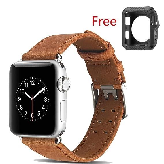 Premium 2 Tone Tan Leather Strap