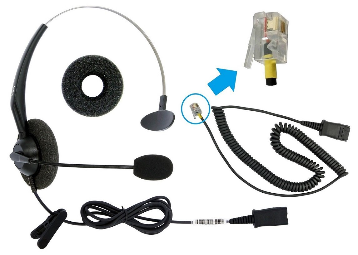 DailyHeadset RJ9 Corded Office Headset for Cisco IP Phone 6941 6945 6961 7931g 7935 7940 7942 7941 7945 7960 7961 7962 7970 7971 7975 by DailyHeadset