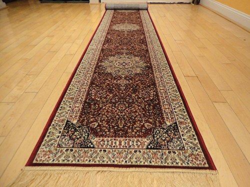 Fine Silk Rug - Stunning Silk Persian Area Rugs Traditional Shiny Area Rugs Silk Long Hallway Runner 2x12 Runners Red Hallway Long Rug