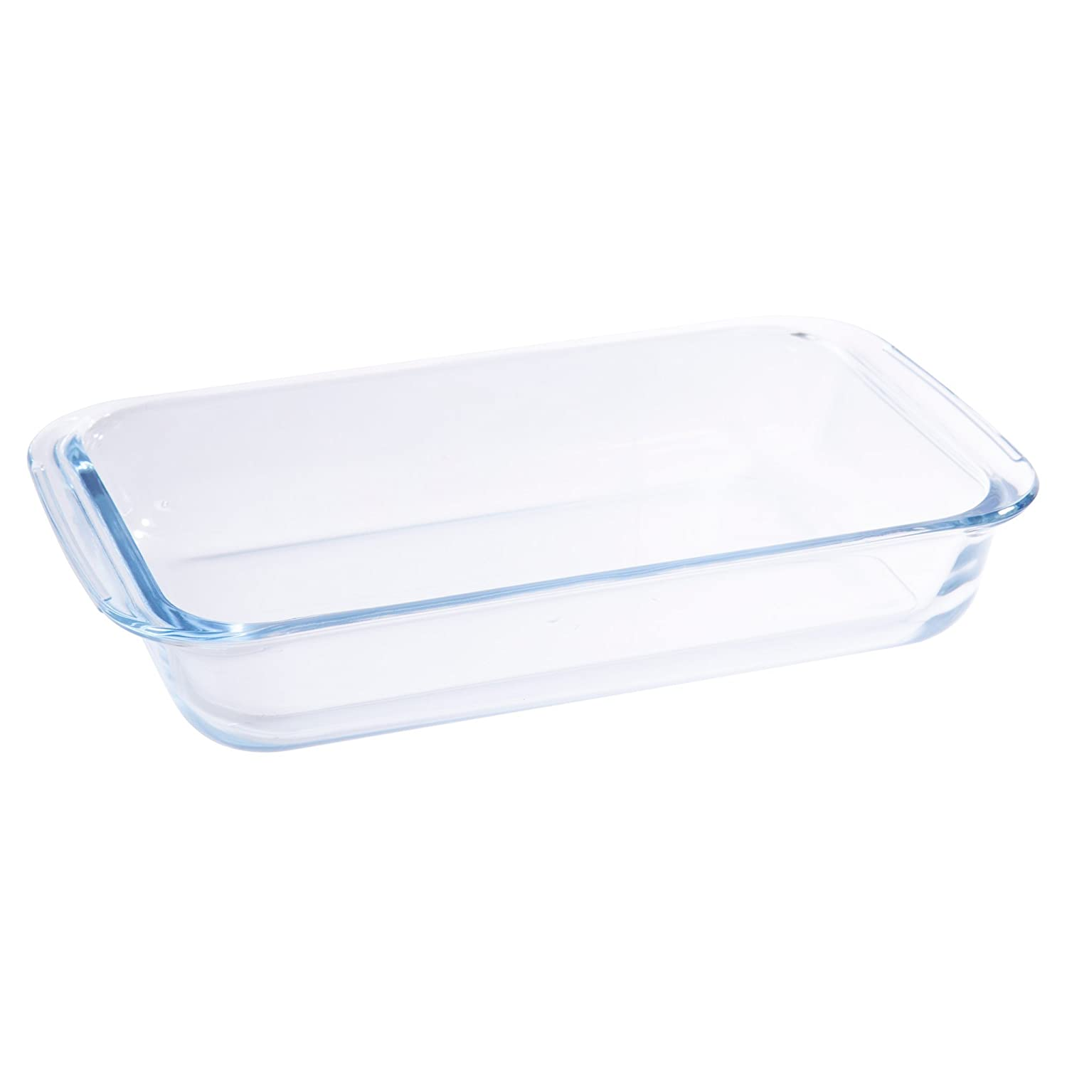 Luciano, 1L Rectangular Glass Bakeware and Serveware Set, Pack of 6, 10 x 6 inches, Clear