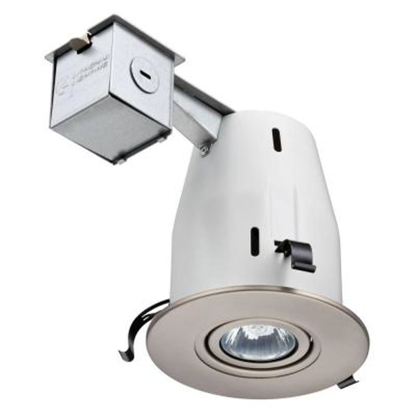 Lithonia Lighting LK4GBN LED LPI M6 4 Inch Gimbal Kit with LED Lamp Included in Nickel
