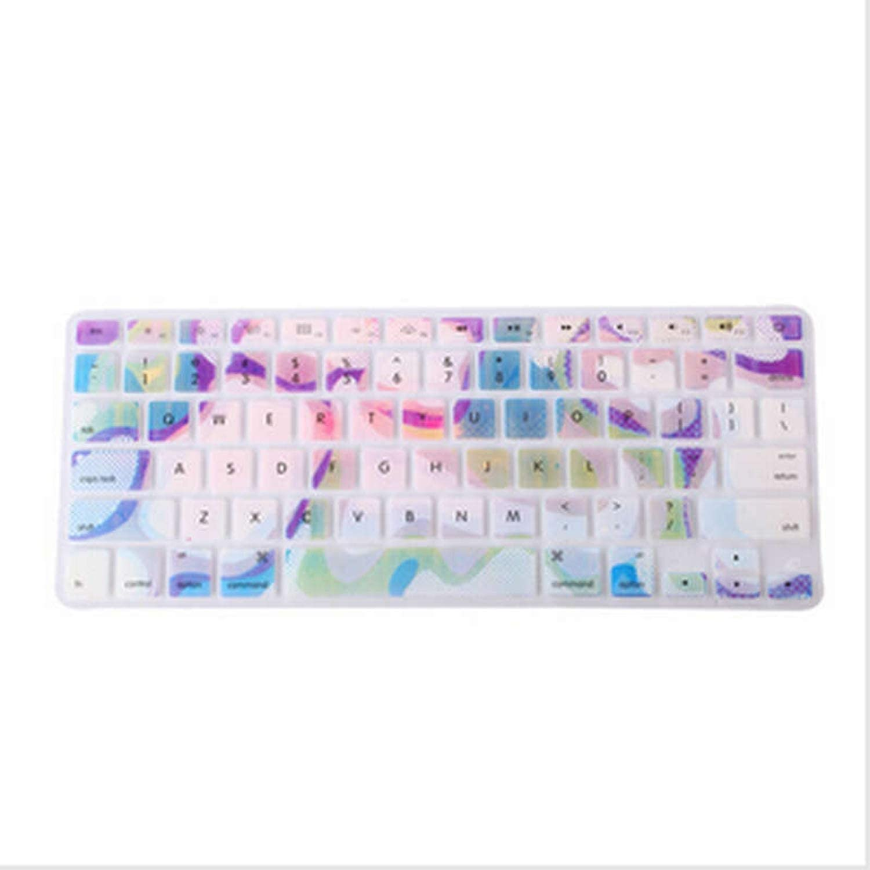 2020 Marble Pattern Silicone Rainbow Keyboard Cover Keypad Skin Protector F Mac MacBook Pro 13 15 17 Air 13 Retina 13 Us Layout-Purple