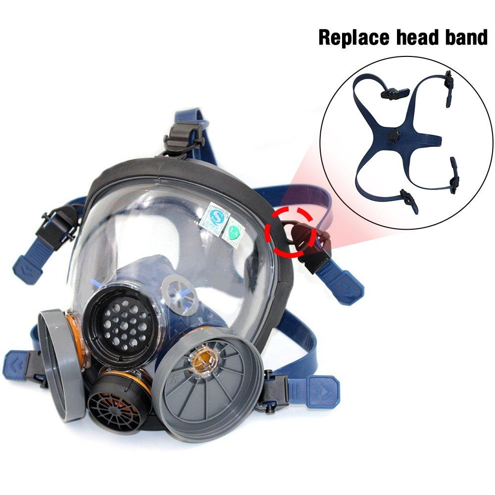Holulo Organic Vapor Full Face Respirator and Holulo Filter Cartridges (Replace head band)