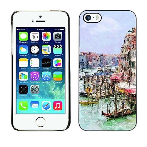 Premio Sottile Slim Cassa Custodia Case Cover Shell // F00006436 Venise // Apple iPhone 5 5S 5G