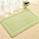 Geometry Pattern Vintage Style Doormat Rug for Living room/Bed room/Bathroom/Kitchen Light Green 17x25inch