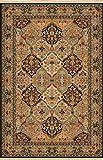 Karastan Empress Kirman Black Rug Rug Size: 5'9″ x 9′