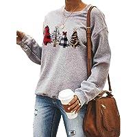 Onavy Women Casual Sweatshirts Christmas Tree Print This is My Christmas Movie Watching Shirt