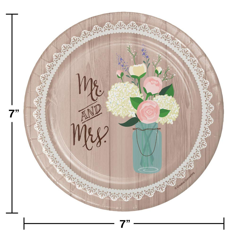 Large Rustic Wedding Bridal Shower Party Supplies Kit, Serves 24 by Creative Converting (Image #4)