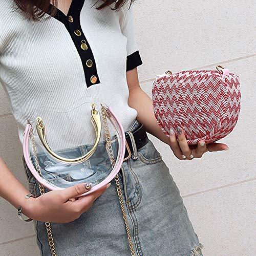 Petit carré Laser Sac Sac Paquet Contraste Sac de Impression rétro Couleur Tendance Jelly Transparent Couture Femme Paillettes Lettres wIpgBqE