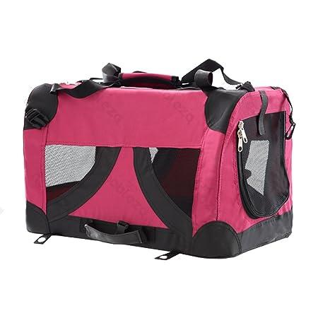 Bolso transportín para perros o gatos Nobleza, material blando de color rojo, largo 50,8cm: Amazon.es: Hogar
