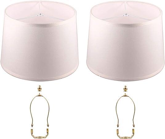 GlassLampShop GLS lámpara de Tambor para lámparas de araña, lámpara de Repuesto para lámpara de Mesa o de Pared, Modelo araña, Repuesto de Pantallas de lámpara, Two Sets: Amazon.es: Hogar